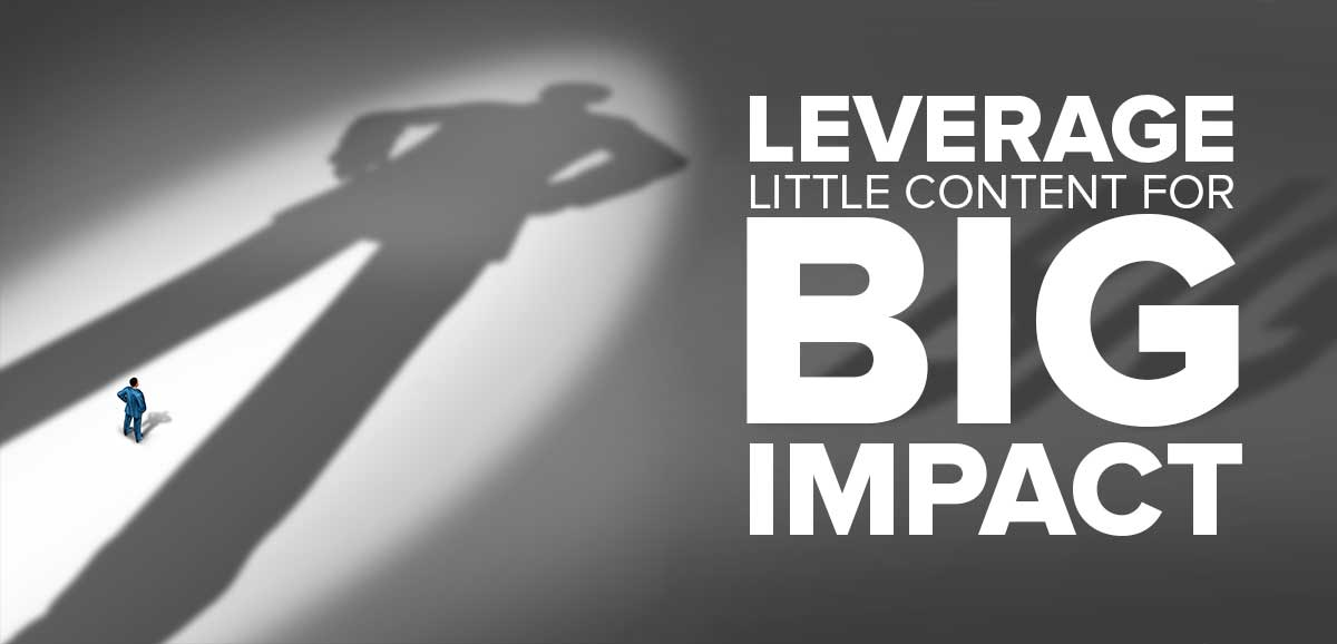 Leverage a Little Content for Big Impact: Content Marketing Made Simple